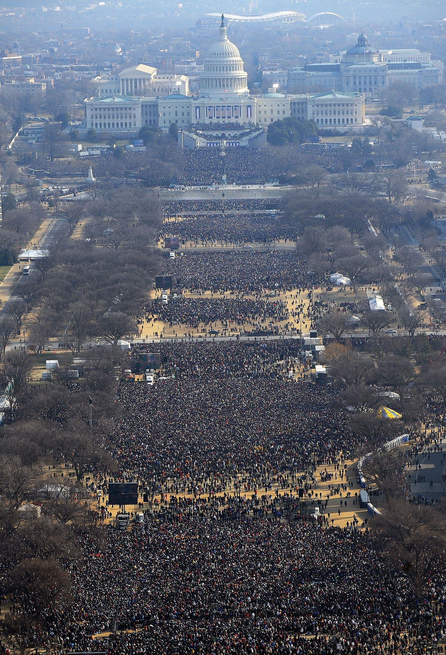 """Organizing coverage for a US inauguration is always a bit hectic, especially with a new administration coming in,"""" writes AFP's photo coordinator for North America Eva Hambach. """"But this one has been by far the most difficult."""""""