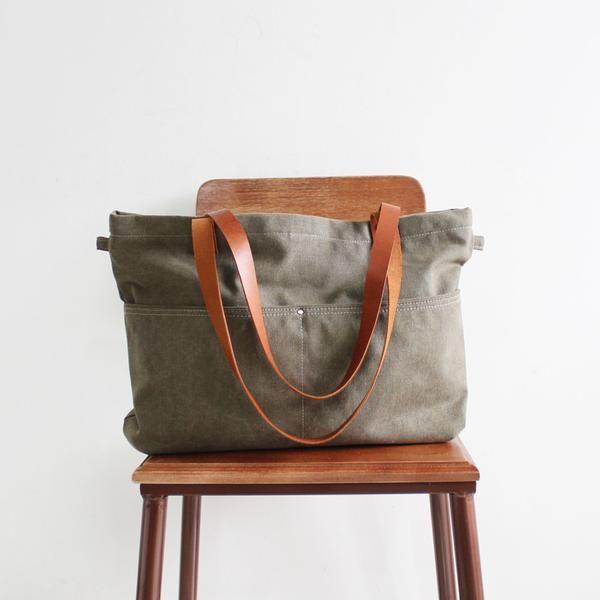 69e9e14be6 Handmade Canvas Tote Messenger Bag Shopper Bag School Bag Handbag 14022 -  LISABAG - 1