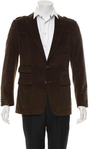 4746e2e0c0c Gucci Corduroy Notch-Lapel Blazer Sport Coats