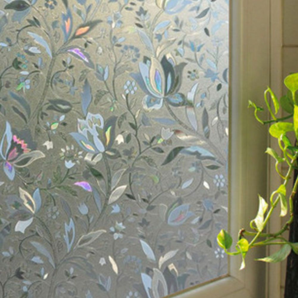 Static Cling Stained Frosted Glass Window Door Film Sticker Privacy Home Decor