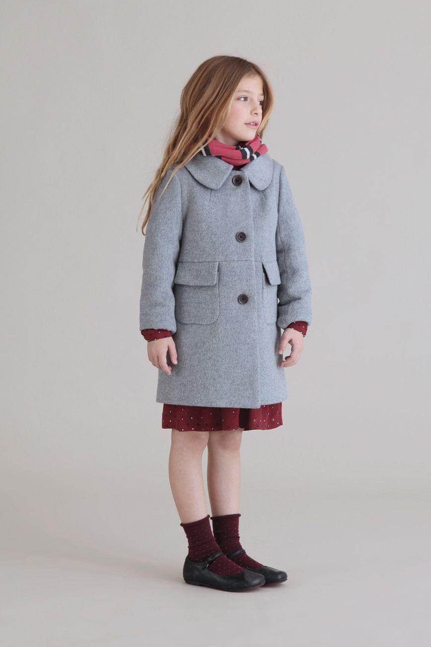 Nice Things Mini Girls Wool Overcoat