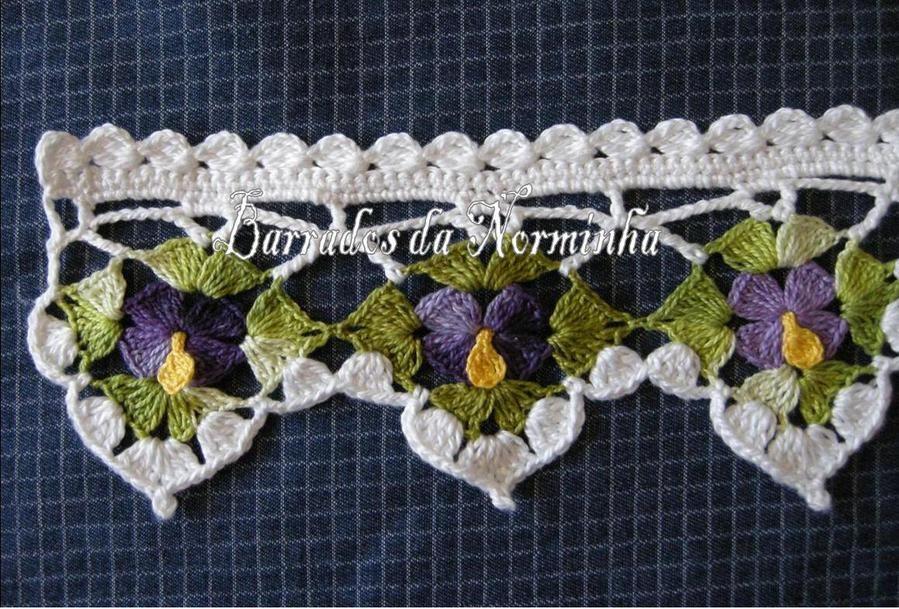 Crochet Flower Border Crochet Goodies Pinterest Crochet