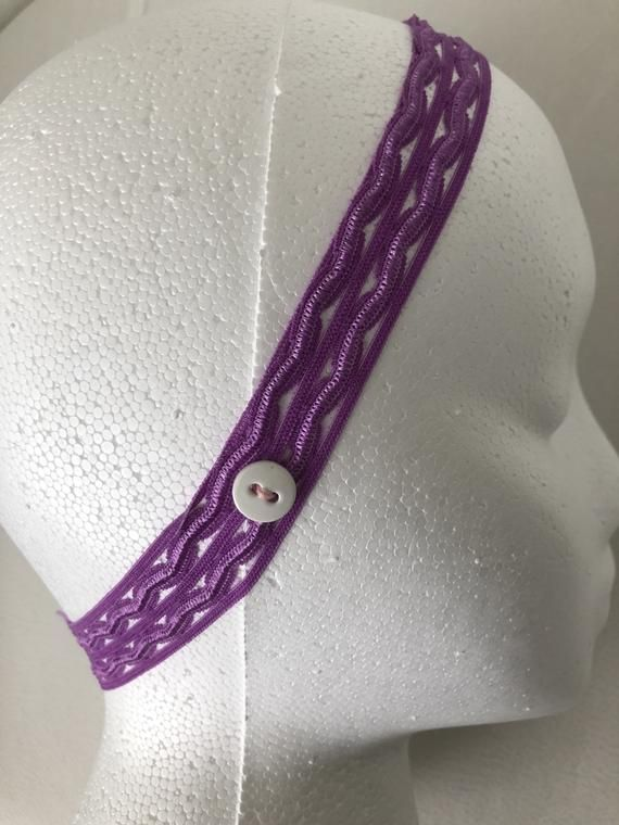 3 Headband With Buttons For Face Mask Elastic Holder. Ideal For Nurses long hours wearing face mask.