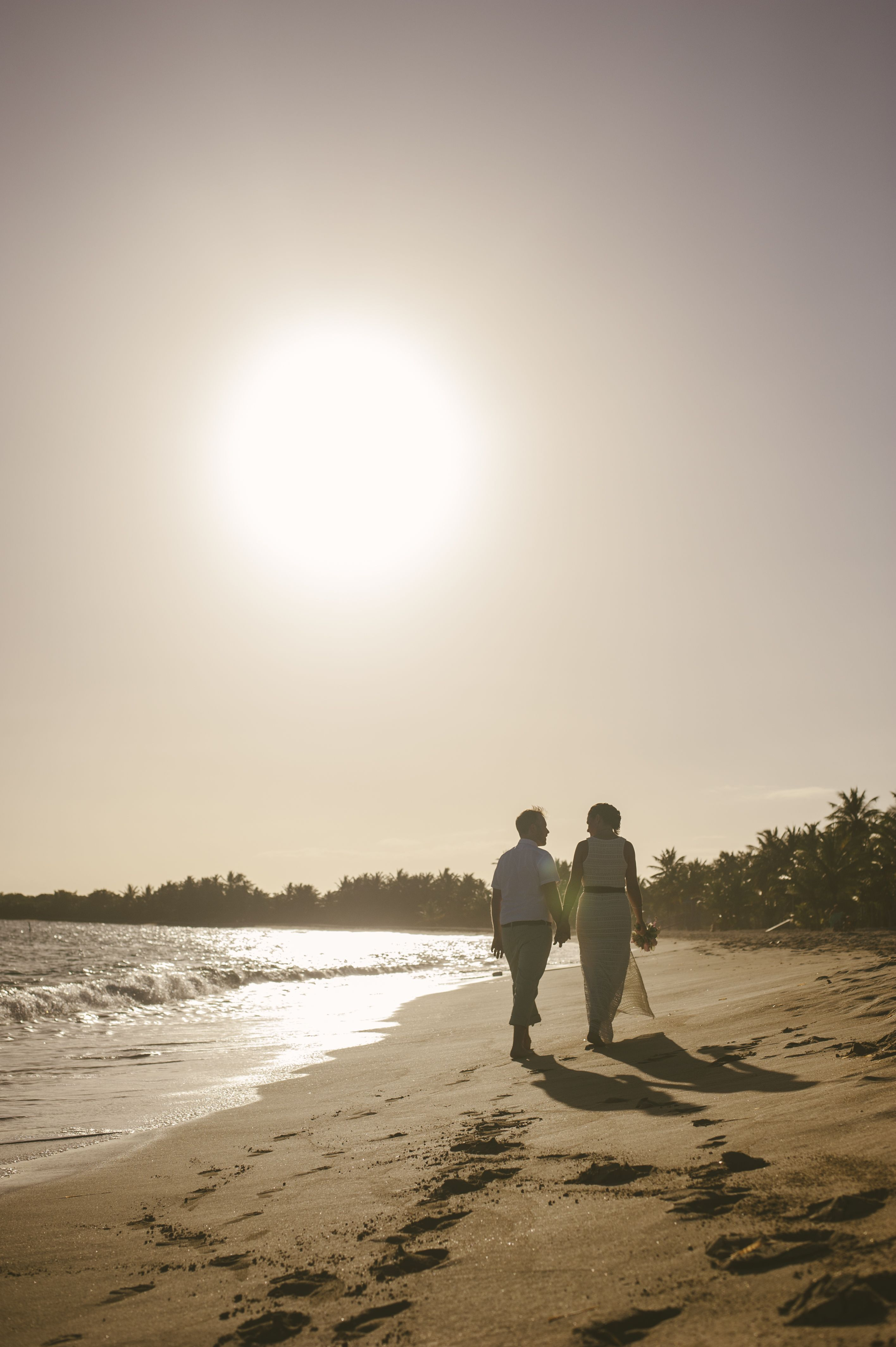 Sun Bay after intimate ceremony Vieques, Wedding events