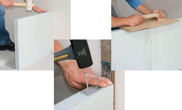 3 tapes pour monter une cloison en b ton cellulaire sdb cloison beton et b ton cellulaire. Black Bedroom Furniture Sets. Home Design Ideas