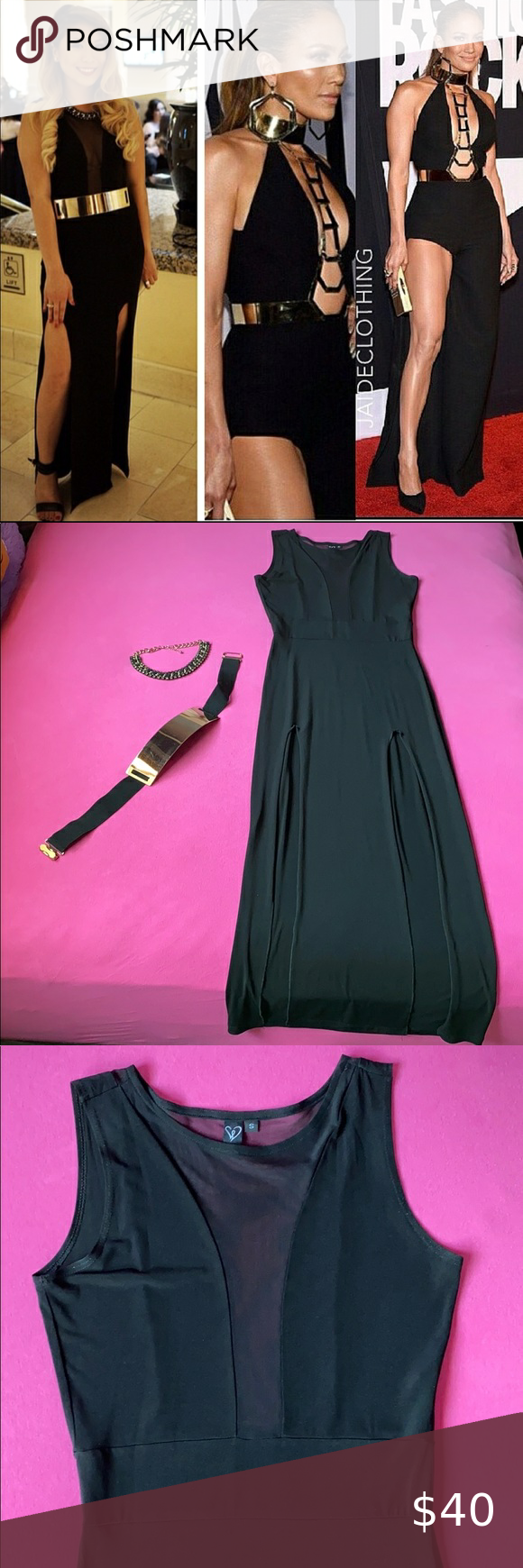 Black Tie Affair Dress, Belt and Necklace in 2020