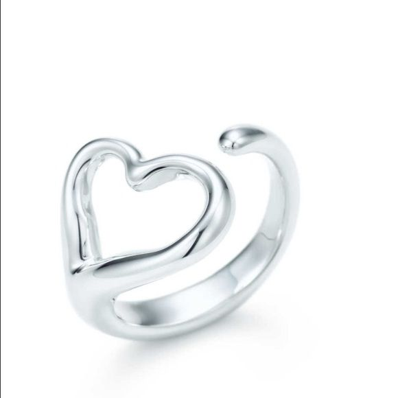 Tiffany Open Heart Ring Tiffany and Co. Open heart ring. Size 7 Tiffany & Co. Jewelry Rings