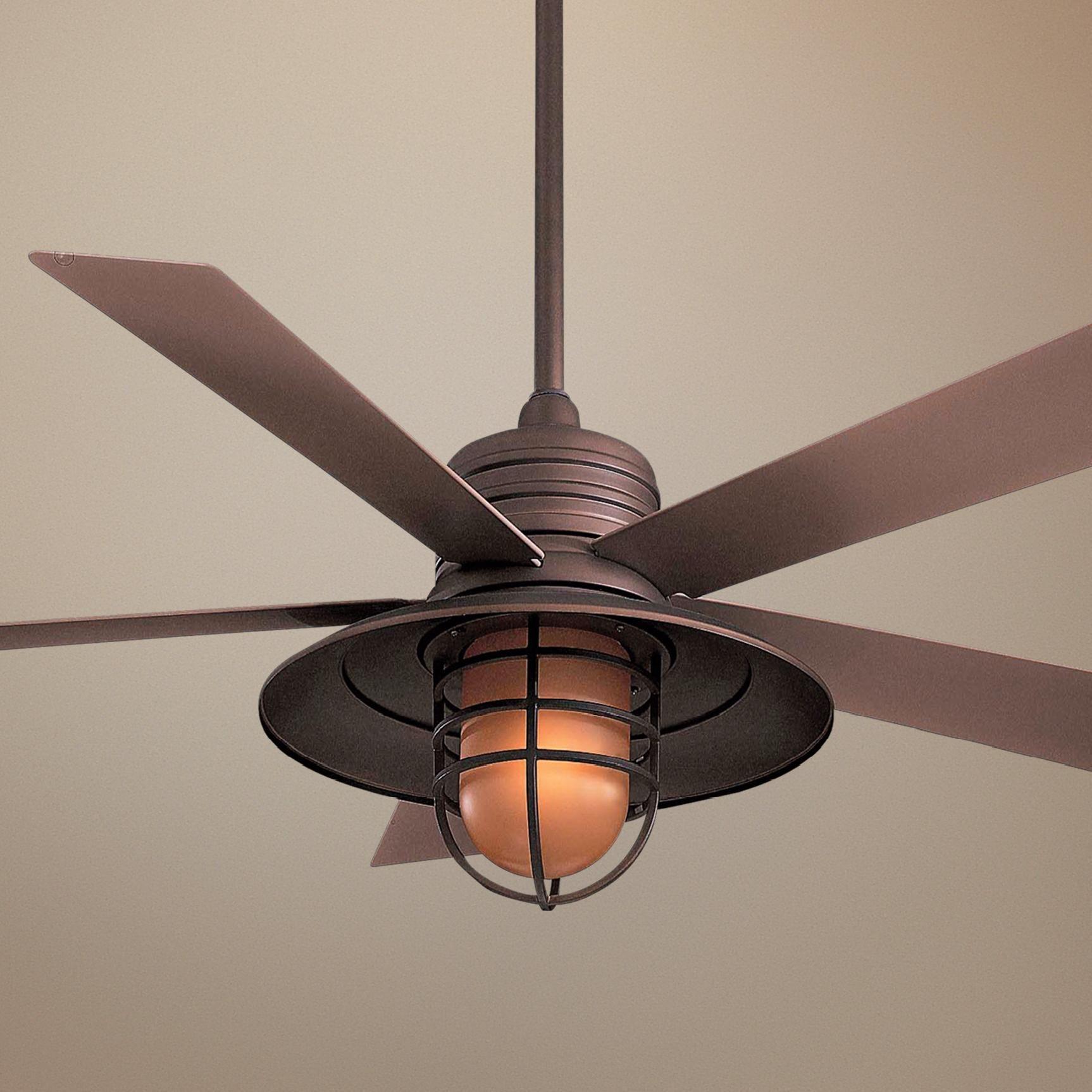 54 Rainman Oil Rubbed Bronze Ceiling Fan 77752 Lamps Plus Vintage Ceiling Fans Bronze Ceiling Fan Ceiling Fan