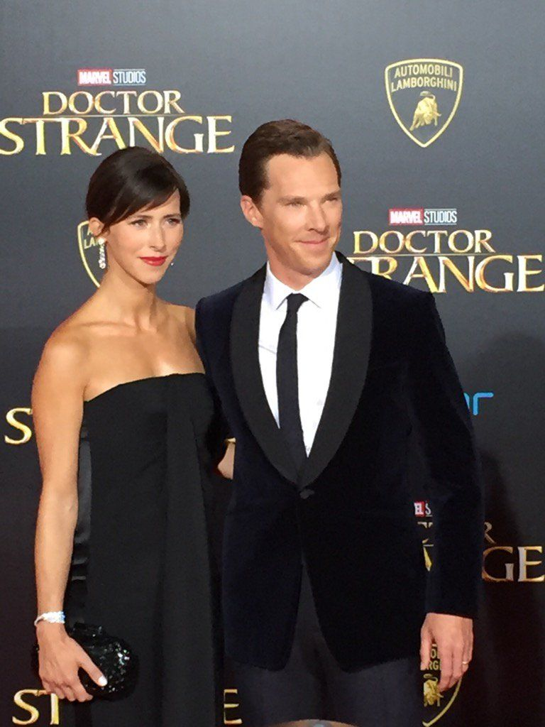 DOCTOR STRANGE ~ Benedict Cumberbatch & Sophie Hunter at L.A. premiere. October 20, 2016.
