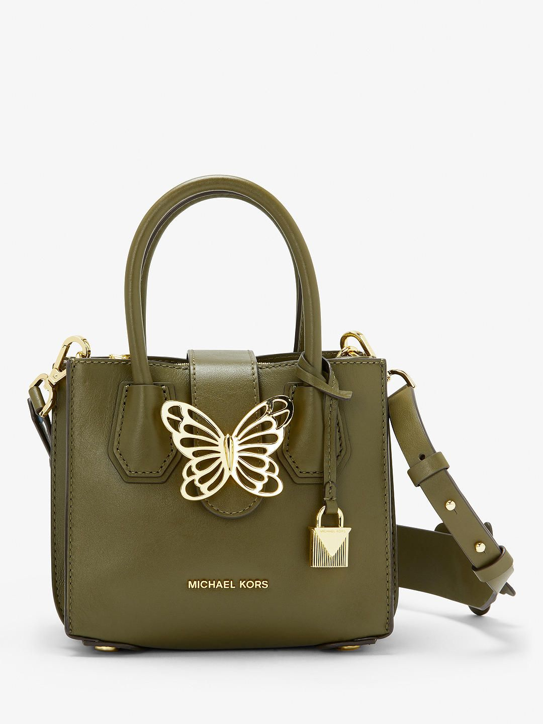 27f6dcd40f65 MICHAEL Michael Kors Mercer Mini Accordion Butterfly Leather Grab Bag at  John Lewis & Partners
