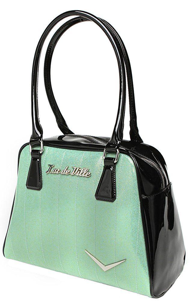 1959273f59 Lux de Ville Getaway Baby Green Sparkle Tote: Handbags: Amazon.com ...