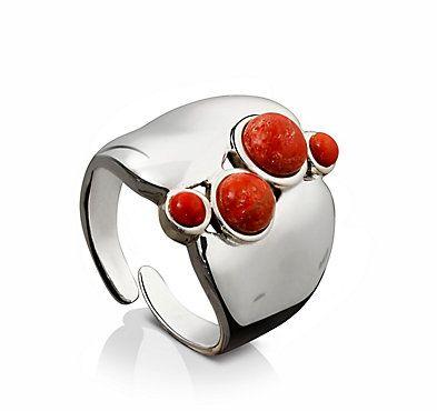 Ring Koralle, 925 Silber jetzt bei weltbild.de bestellen
