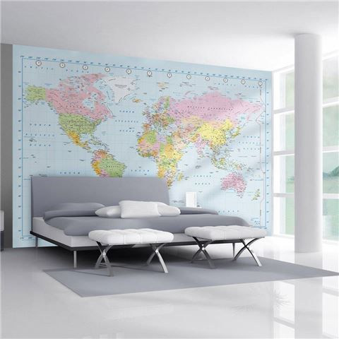 I So Want This For Archer S Teenage Bedroom Love It 1wall World Map Giant Wallpaper Mural Map Murals World Map Mural World Map Wallpaper