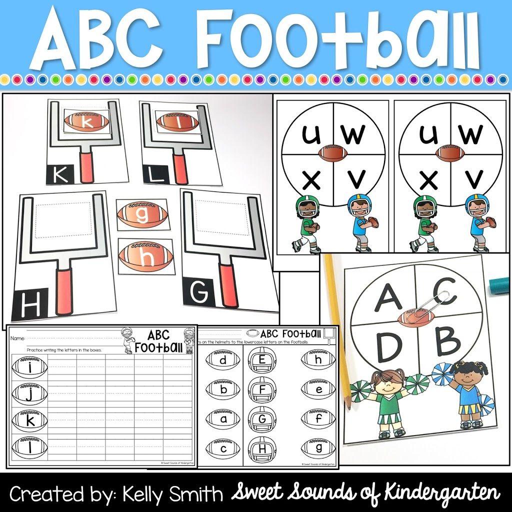 Alphabet Centers Football Centers Letter Matching