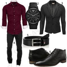 Tenue d'affaires élégante avec chemise, pantalon chino et veste – outfits4you.de   – My Style Going Forward