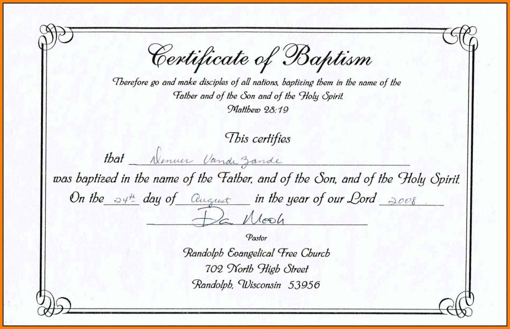 Catholic Confirmation Certificate Template In