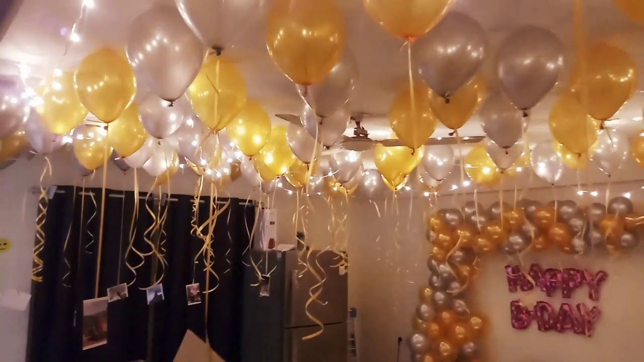 How To Decorate A Room On Wife Birthday Jol Events Wife Birthday Happy Birthday Artist Surprise Party Decorations