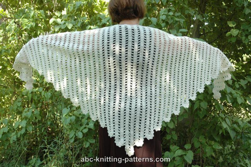 ABC Knitting Patterns - Bruges Lace Shawl | Knit/Crochet Wraps ...