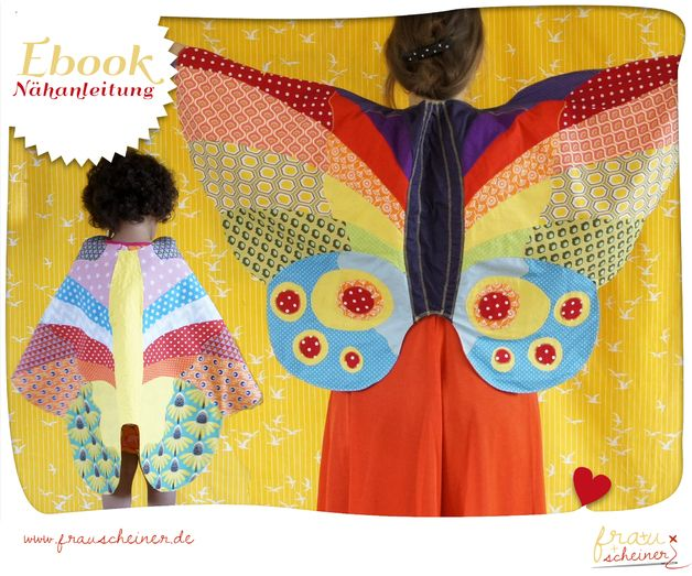 Schmetterlingflügel-Umhang Schnittmuster | Kinderlieder, Meine ...