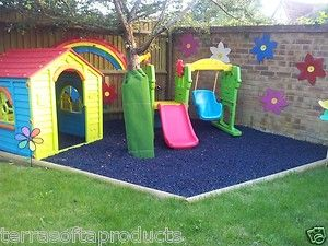 Details About Terrasofta Alternative To Playground Safety Grass Rubber Play Mats Tiles Mat