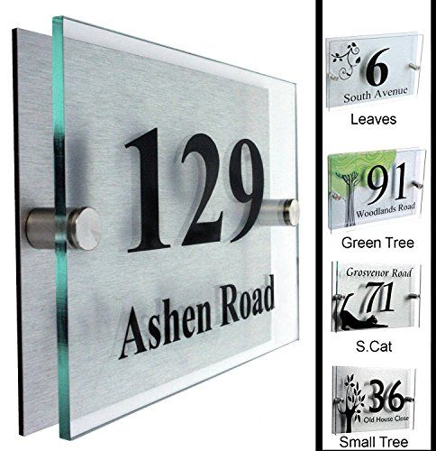 Fancy House Sign Plaque Door Number Street Type 2 Shipping From London N A Http Www Amazon Co Uk D House Numbers House Number Plaque Designer House Numbers Contemporary house name signs uk