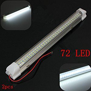 Audew 340mm 12v 4 5w 72 Led Light Bar With On Off Switch 2 Piece Bar Lighting Led Light Bars Led Lights