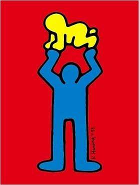 Keith Haring  Ohne Titel Mann mit Baby  jetzt bestellen bei