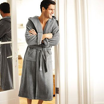 Dressing gown - any colour but white, not synthetic, long / below ...
