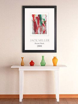 displaying child's art on a poster (could DIY) - so chic!