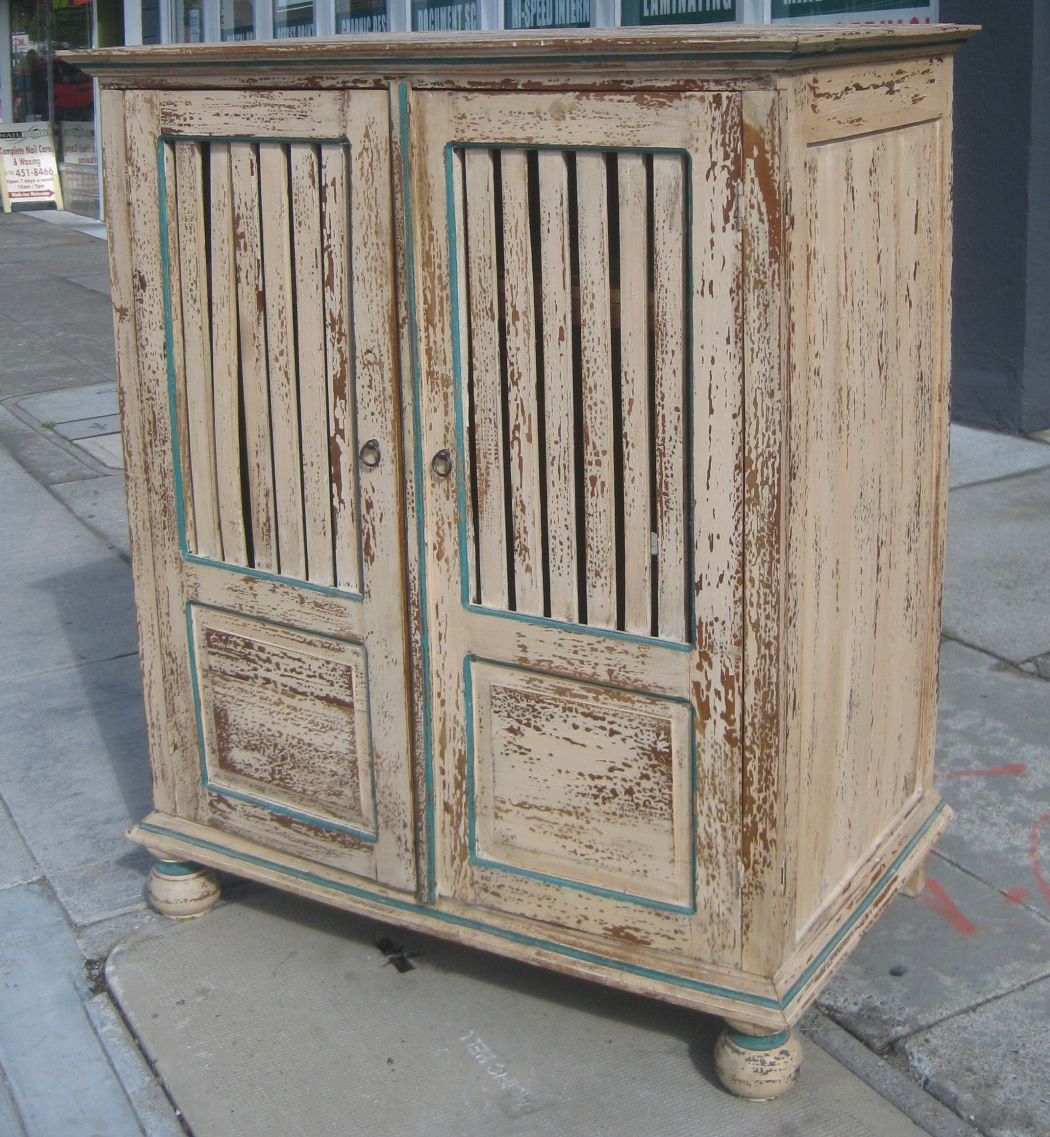 distressed entertainment chest
