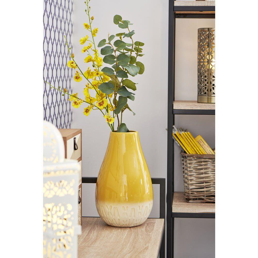 Best Ochre Bulbous Vase In 2020 Living Room Colors Wilko 400 x 300