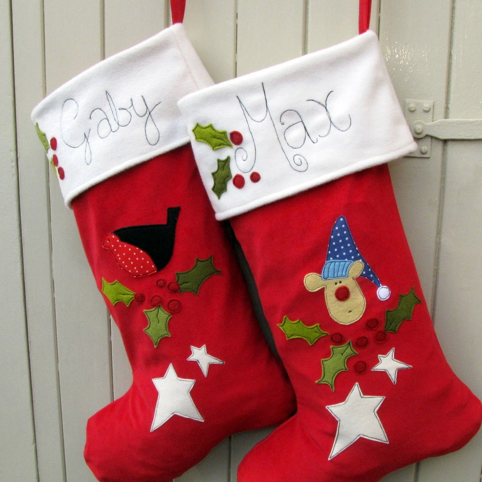 christmas stockings childrens christmas stocking miss robin and