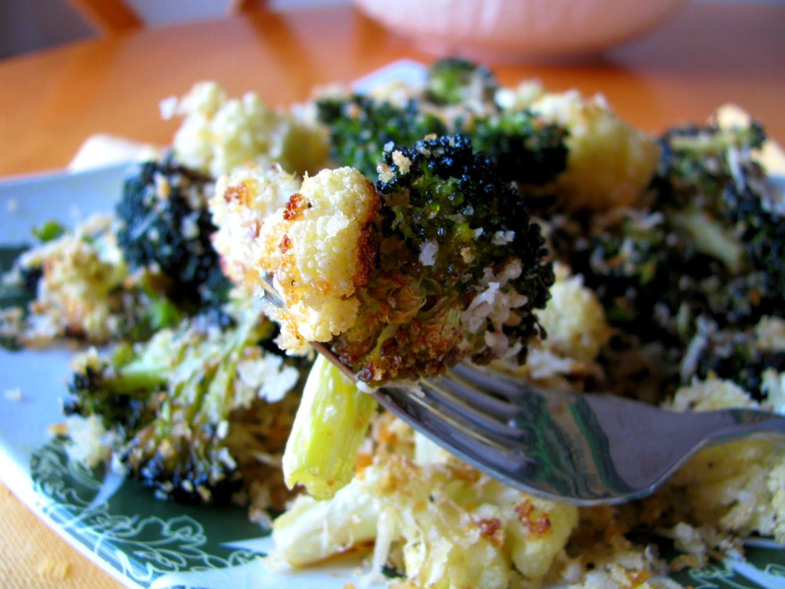 California Blend Vegetables With Parmesan Bread Crumbs A Mixture