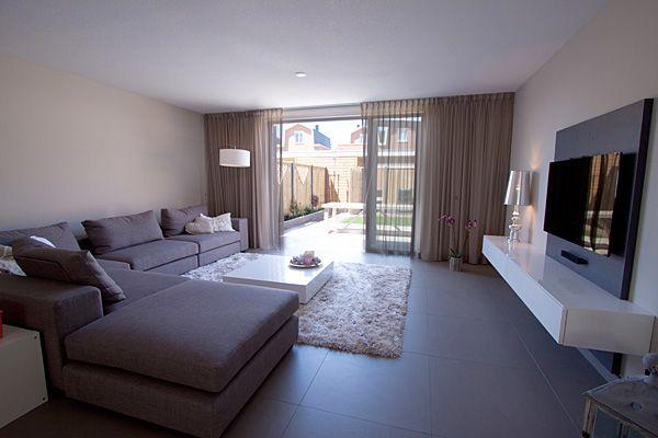 Inrichting en ontwerp keuken en woonkamer - Deco moderne woonkamer ...