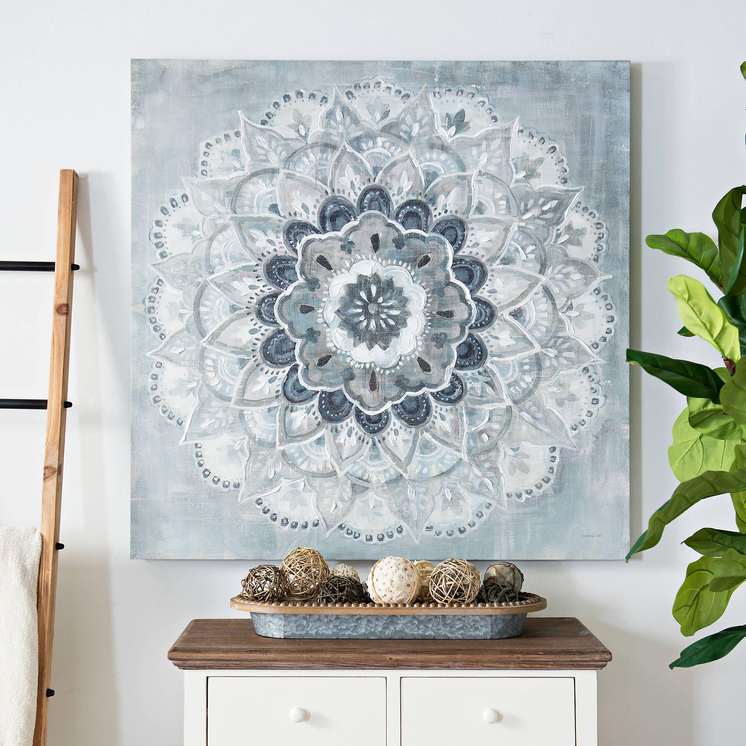Blue paulo sunburst canvas art print kirklands in 2020