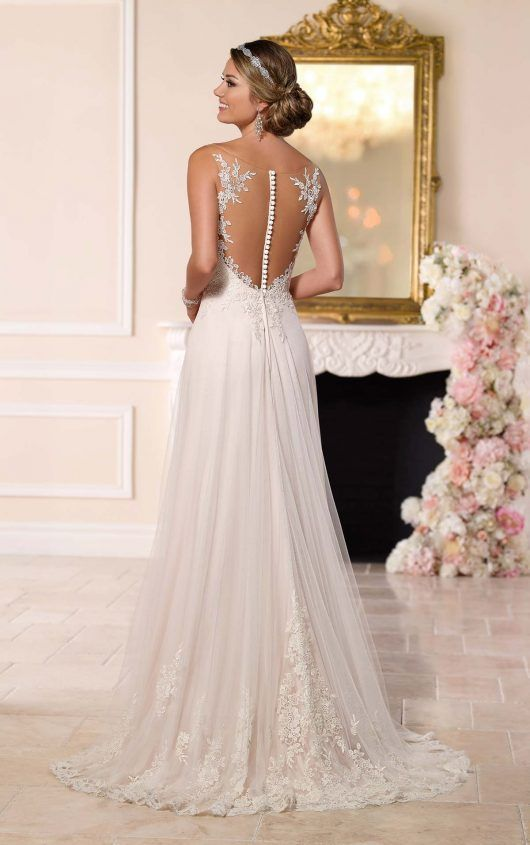 Wedding Dress Lace 6194 Illusion Plus Size By Stella York