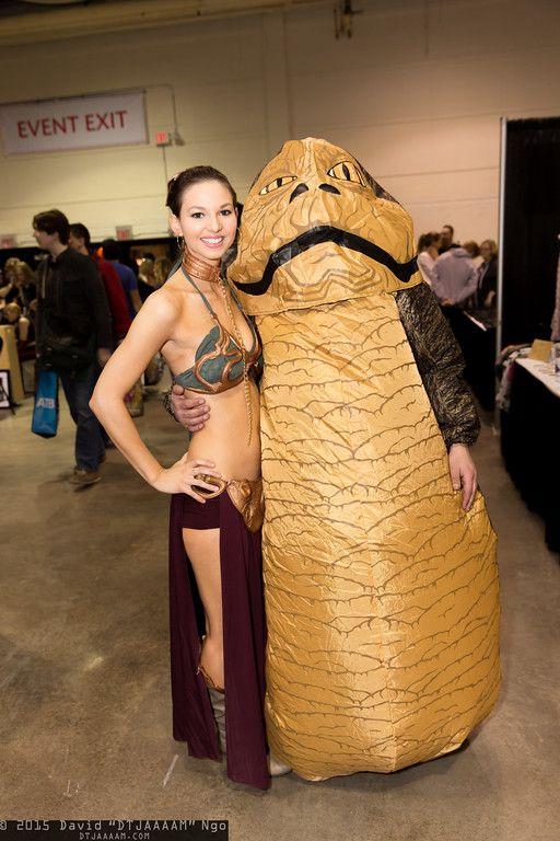 Princess Leia Organa and Jabba the Hutt  sc 1 st  Pinterest & Princess Leia Organa and Jabba the Hutt | Cosplay | Pinterest ...