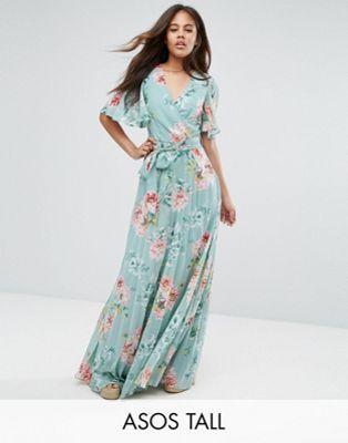 Vestido largo estampado floral para boda