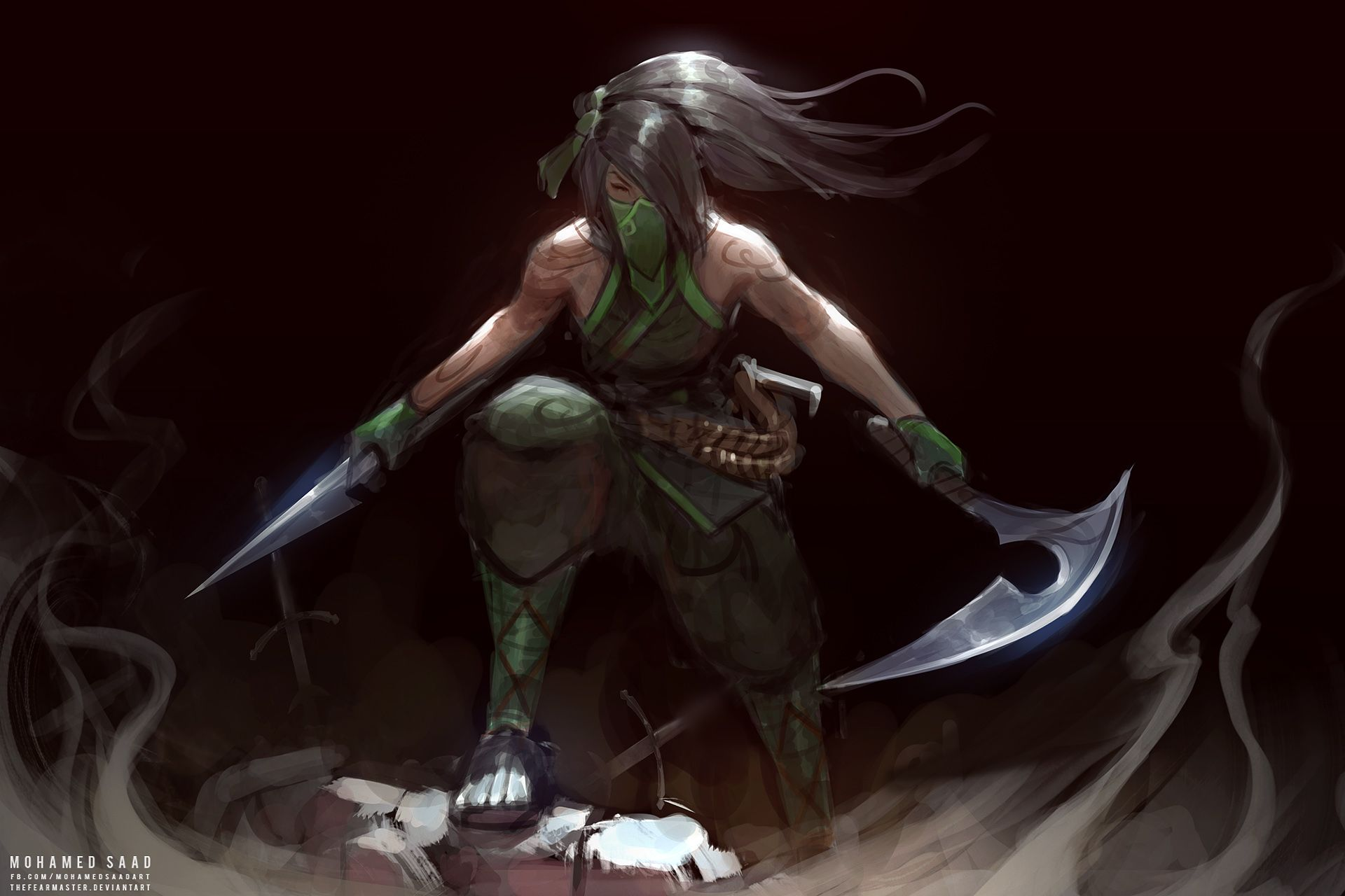 Akali Rework By Thefearmaster Hd Wallpaper Background Fan Art