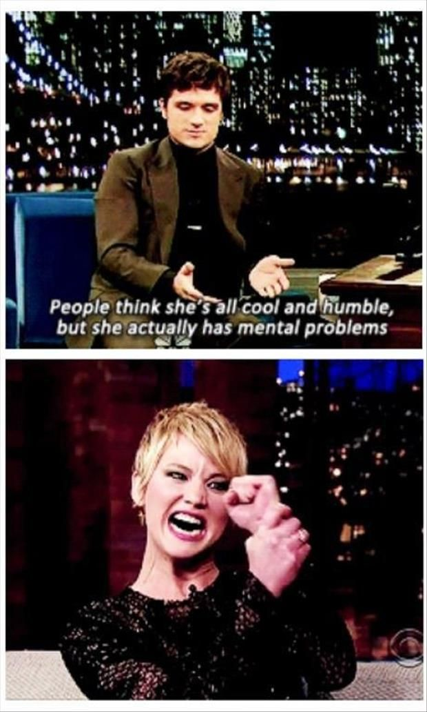 Funny Jennifer Lawrence Dump A Day Jennifer Lawrence Funny Hunger Games Memes Jennifer Lawrence