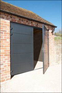 Insulated Steel Side Hinged Garage Doors From Garador And Carteck
