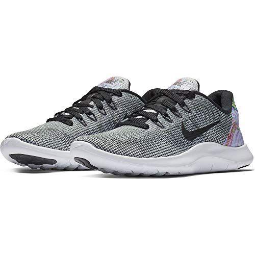 3ce9ee3076 NIKE Women's Flex RN 2018 Premium Running Shoes, Pure Platinum/Black/White -