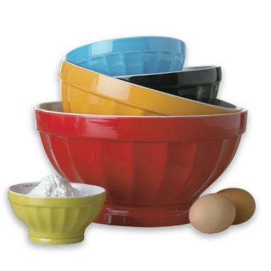 Cooks 5 Pc Ceramic Mixing Bowl Set Ceramic Mixing Bowls Mixing Bowls Set Bowl