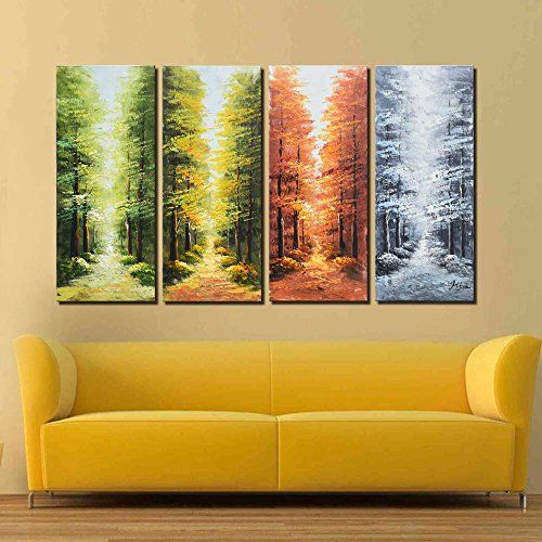ARTLAND Hand-painted 28x48-inch \'Go Through the Seasons\'4... https ...