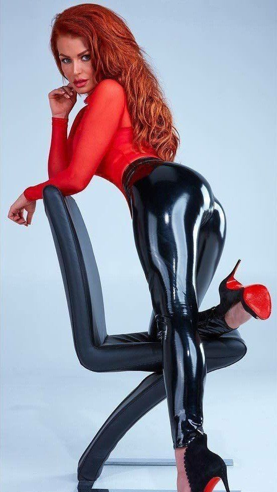 Red head in latex