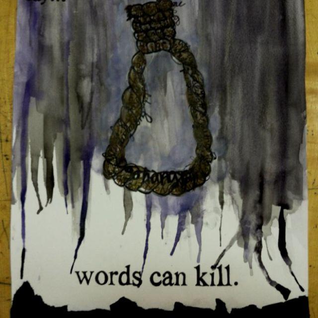 Anti-bullying art by Courtney Burrows