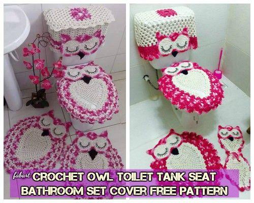 Fabulous Diy Crochet Owl Toilet Tank Seat Bathroom Set Cover Free Dailytribune Chair Design For Home Dailytribuneorg