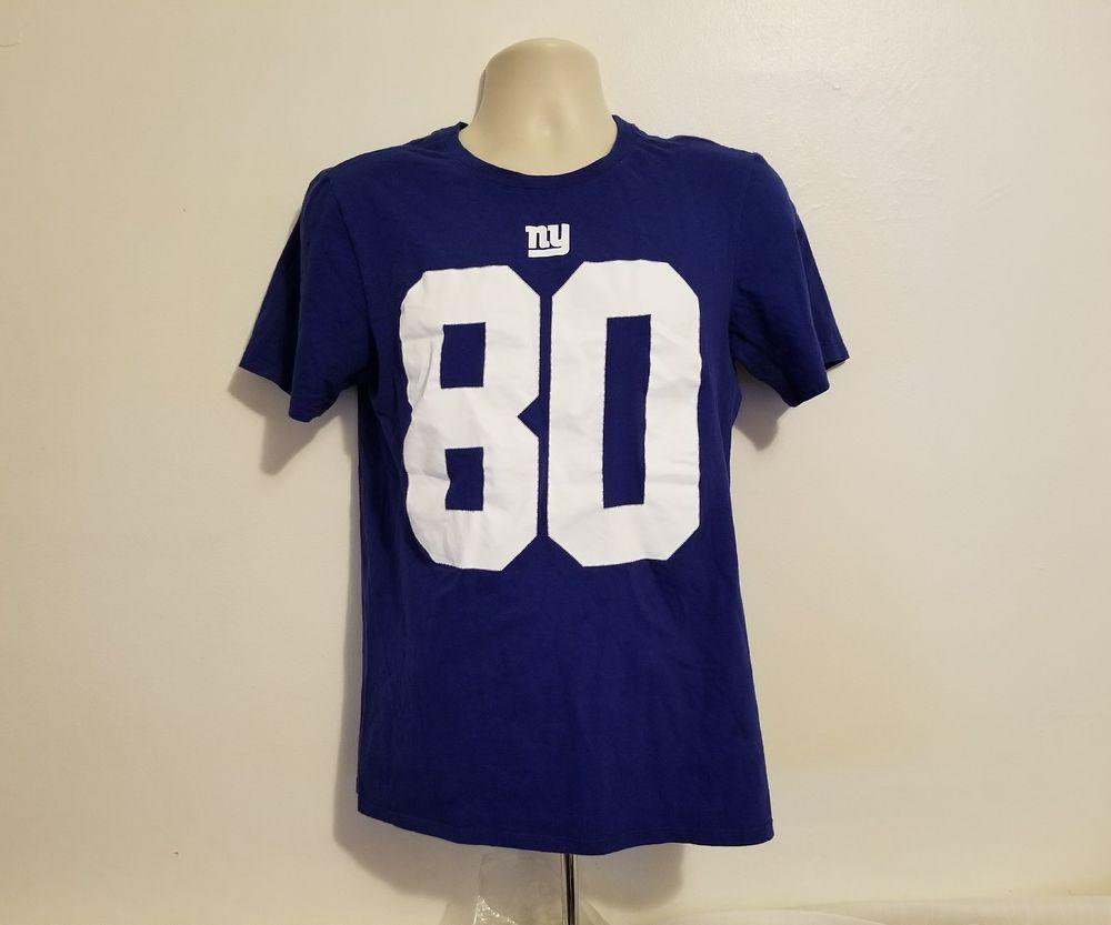 d6c67e34c Nike New York Giants NFL Victor Cruz 80 Mens Small Medium Blue T-Shirt #Nike  #NewYorkGiants