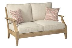 Clare View Loveseat with Cushion | Outdoor loveseat, Love ... on Clare View Beige Outdoor Living Room id=98716
