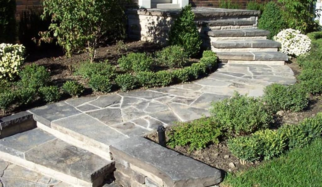 how to build outdoor stone steps